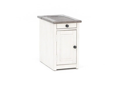 Two Tone Door Chairside Table