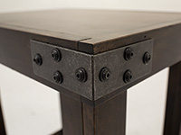 Industrial Tobacco Chairside Table