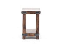 Industrial Fruitwood Chairside Table
