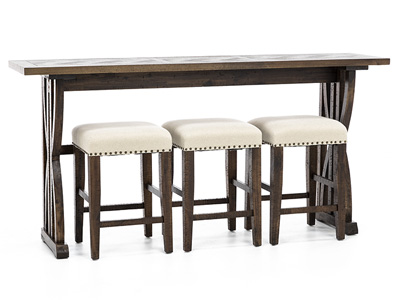 Fairview Oak 4pc Console Bar Set