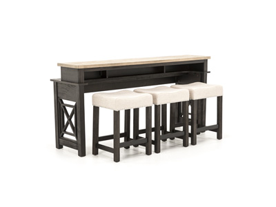Heatherbrook Console Bar Table Set