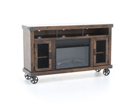 Industrial Fruitwood Fireplace
