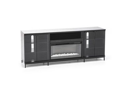 Fullerton Black Fireplace