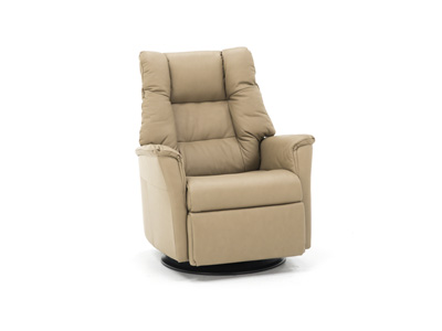Verona Leather Large Swivel Glider Recliner