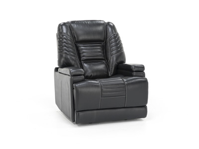 Crown Leather Power Recliner with Power Headrest