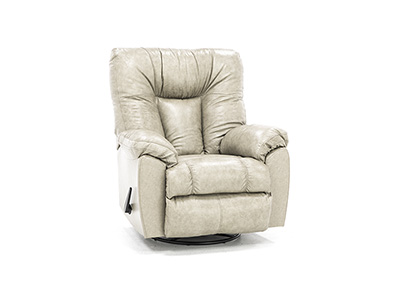 Geoff Leather Swivel Rocker Recliner