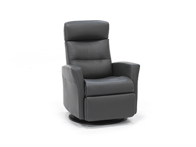 Direct Designs® Divante Leather Medium Swivel Glider Recliner