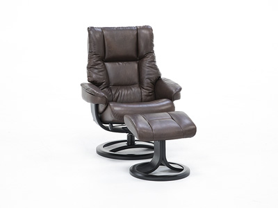 Direct Designs® Norden Leather Large Swivel Recliner/Ottoman Set