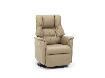 Direct Designs® Veronica Leather Power Small Swivel Glider Recliner