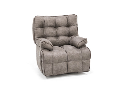 Lucroy Grey Power Layflat Recliner