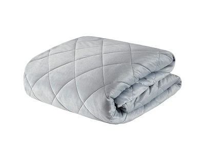 Beautyrest Grey Luxury Quilted Mink Weighted Blanket