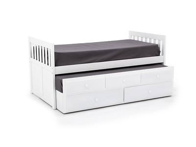 Twin White Daybed with Trundle