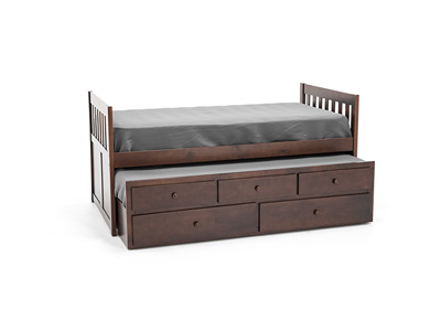 Twin Merlot Daybed with Trundle