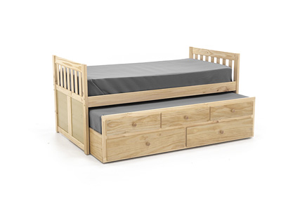 Twin Natural Daybed with Trundle