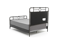 Dogwood Queen Metal Bed