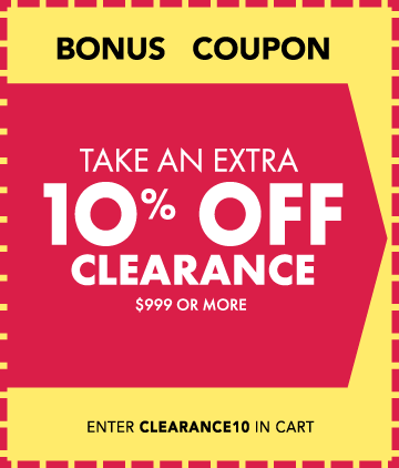 10 off Clearance Coupon