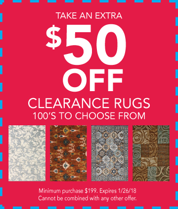 Rug Clearance Coupon