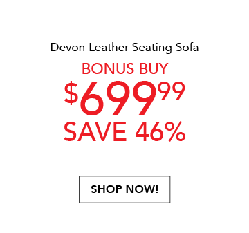 DOW Devon Leather Sofa Price