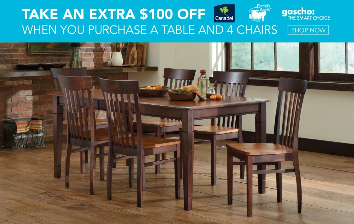 Charmant $100Off Table U0026 4 Chairs