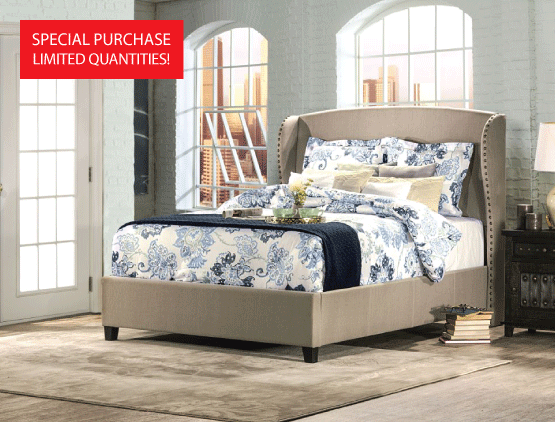 Queen Upholstered Bed - $299